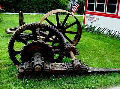 Photograph - Chippewa Park Gears by Mark Malitz