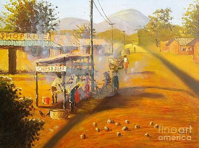 Malawi Painting - Chips And Beef by Nisty Wizy