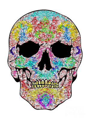 Chips Skull Art Print by Mauro Celotti