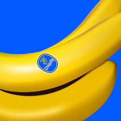 Digital Art - Chiquita Banana by Nop Briex