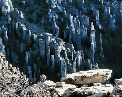 Digital Art - Chiricahua Pinnacles D by Tim Richards