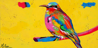 Colorado Artist Tracy Miller Painting - Chirp Chirp by Tracy Miller