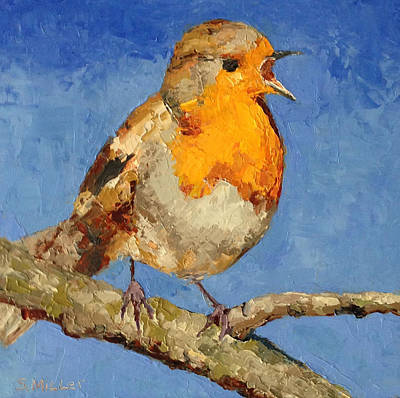 Painting - Chirp by Sylvia Miller