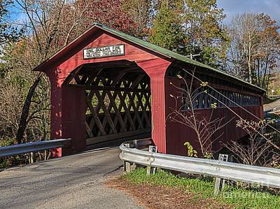 Photograph - Chiselville Covered Bridge by Edward Fielding