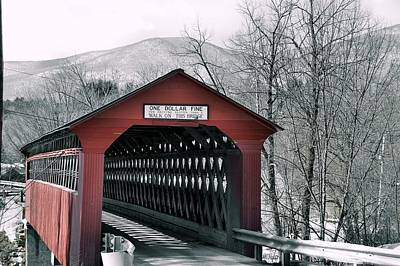 Photograph - Chiselville Covered Bridge by JAMART Photography