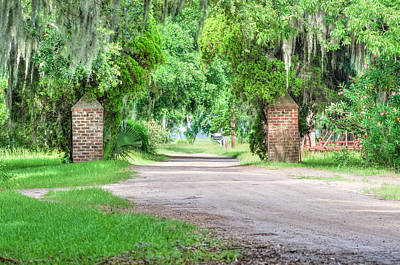 Photograph - Chisolm Island Plantation - Brick Pillars by Scott Hansen