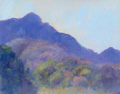 Painting - Chisos Mountains II by Rosemarie Hakim