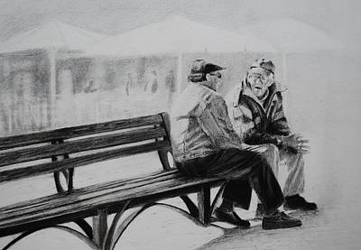 Drawing - Chit Chat by Lynn Hughes