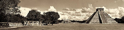 Photograph - Chitzen Itza Panorama Sepia by Weston Westmoreland