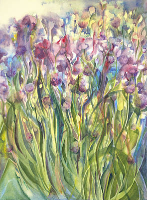 Painting - Chives Surprise by Lynne Bolwell