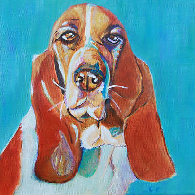 Painting - Chleo The Basset Hound by Christiane Kingsley