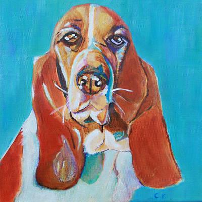 Painting - Chleo The Basset Hound by Christiane Kingsley