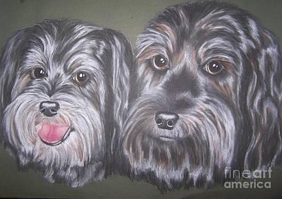 'chloe And Rudy' Art Print by Julie Hull