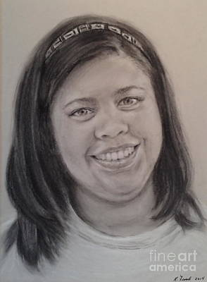 Drawing - Chloe by Kathy Flood