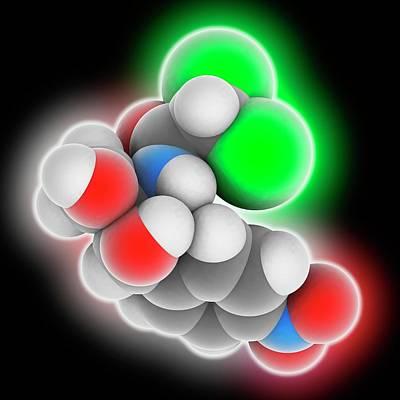 Chloramphenicol Drug Molecule Art Print