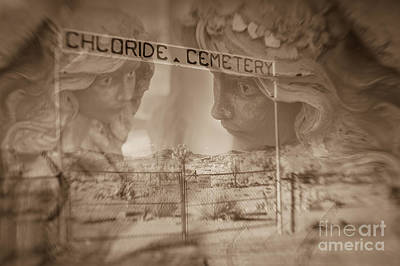 Art Print featuring the photograph Chloride Cemetery by Marianne Jensen