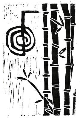 Cho Ku Rei And Bamboo Art Print by Lynn-Marie Gildersleeve