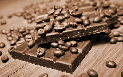 Snack Bar Photograph - Chocolate And Coffee by Isabel Poulin