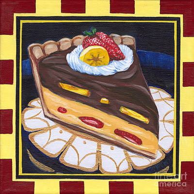 Painting - Chocolate Banana Cream Pie by Gail Finn