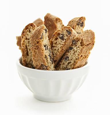 Almond Photograph - Chocolate Biscotti by Elena Elisseeva