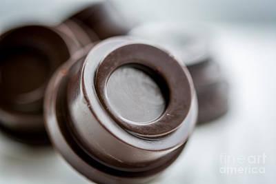 Chocolate Button - By Sabine Edrissi Art Print by Sabine Edrissi