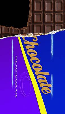 Bar Digital Art - Chocolate Case by Nicklas Gustafsson