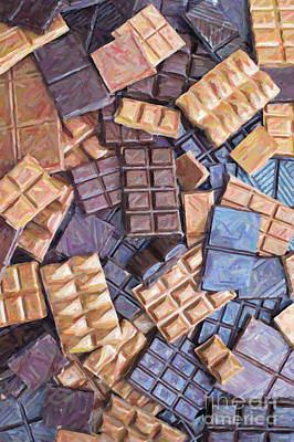 Rectangles Digital Art - Chocolate Chaos by Tim Gainey