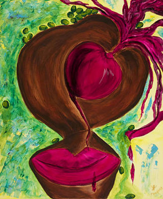 Chocolate Cherry Olive Original by Phoenix The Moody Artist