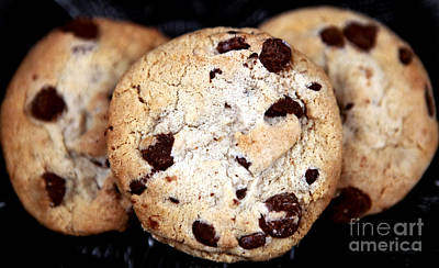 Photograph - Chocolate Chip Cookies by John Rizzuto