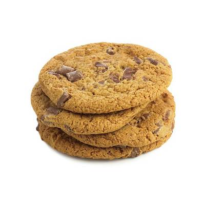 Chocolate Chip Cookies Art Print by Science Photo Library