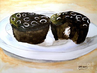 Painting - Chocolate Cupcakes by Carol Grimes