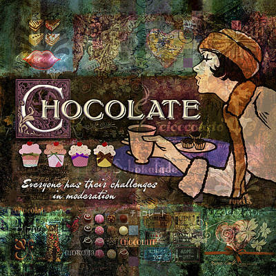Chocolate Art Print by Evie Cook