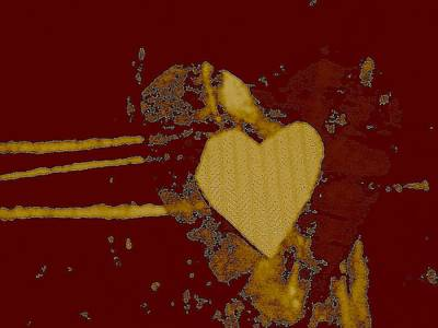 Mixed Media - Chocolate-heart by Dorothy Rafferty