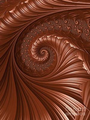 Warm Digital Art - Chocolate  by Heidi Smith