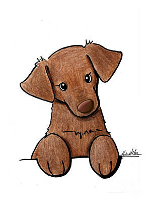 Chocolate Lab Drawing - Chocolate Lab by Kim Niles