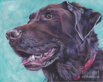 Painting - Chocolate Lab by Lee Ann Shepard