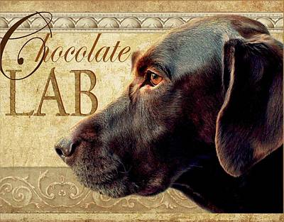 Labrador Digital Art - Chocolate Lab by Wendy Presseisen
