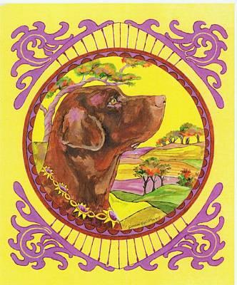 Chocolate Labrador Retriever Painting - Chocolate Labrador Retriever by Joan Williams