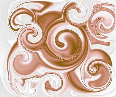 Chocolate Milk Take 2 Art Print by Ron Hedges