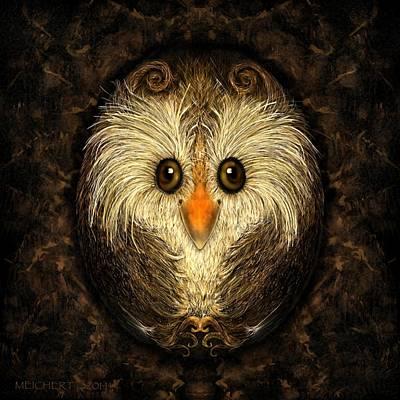Chocolate Nested Easter Owl Art Print