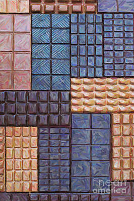 Rectangles Digital Art - Chocolate Order by Tim Gainey