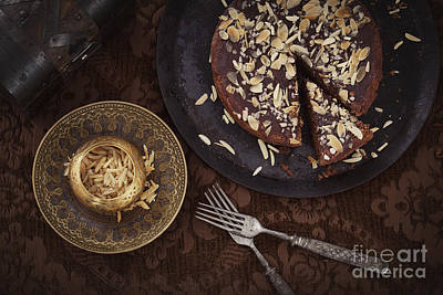 Chocolate Pie Art Print by Mythja  Photography