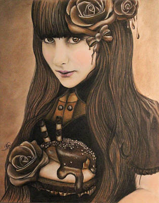 Brunette Drawing - Chocolate by Sheena Pike