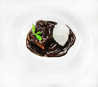 Mint Photograph - Chocolate Soup by Gina Dsgn