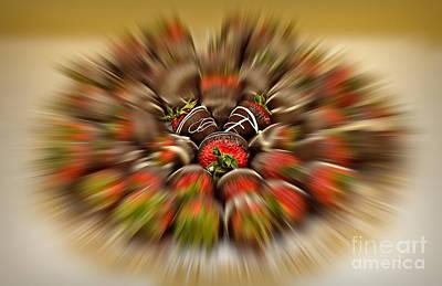 Chef Photograph - Chocolate Strawberry Rush by Susan Candelario