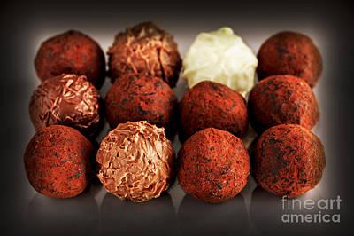 Swiss Photograph - Chocolate Truffles by Elena Elisseeva