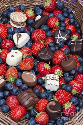 Chocolates And Strawberries Art Print