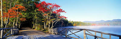 Colorful Leaves Photograph - Chocorua Lake White Mountains National by Panoramic Images