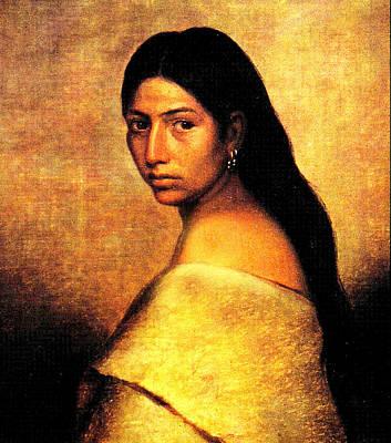 Native American Woman Digital Art - Choctaw Belle by Phillip Romer