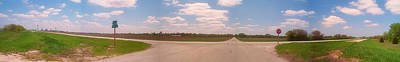 Choices At The Cross Roads Panorama Art Print by Thomas Woolworth